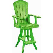 """Generations Swivel Arm Pub Chair, Kiwi Lime, 18""""L x 18""""W x 48""""H"""