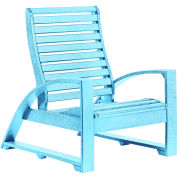 "St Tropez Lounger Chair, Aqua, 41""L x 29""W x 38""H"