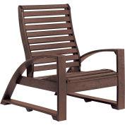 "St Tropez Lounger Chair, Chocolate, 41""L x 29""W x 38""H"