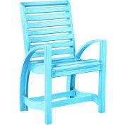 "St Tropez Dining Arm Chair, Aqua, 21""L x 24""W x 39""H"