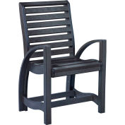 "St Tropez Dining Arm Chair, Black, 21""L x 24""W x 39""H"