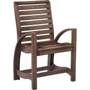 """St Tropez Dining Arm Chair, Chocolate, 21""""L x 24""""W x 39""""H"""