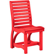 """St Tropez Dining Side Chair, Red, 21""""L x 18""""W x 39""""H"""