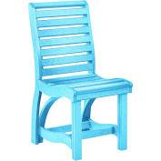 "St Tropez Dining Side Chair, Aqua, 21""L x 18""W x 39""H"