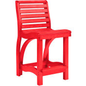 """St Tropez Counter Chair, Red, 21""""L x 18""""W x 39""""H"""