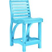 "St Tropez Counter Chair, Aqua, 21""L x 18""W x 39""H"