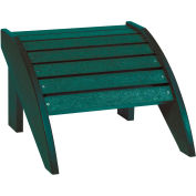 "Generations Footstool, Green, 18""L x 17""W x 12""H"