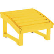 """Generations Upright Adirondack Chair Pull Out Footstool, Yellow, 32""""L x 22""""W x 14""""H"""