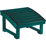 """Generations Upright Adirondack Chair Pull Out Footstool, Green, 32""""L x 22""""W x 14""""H"""