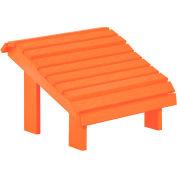 """Generations Premium Footstool, Orange, 18""""L x 18""""W x 16""""H"""