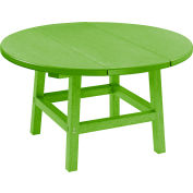 """CR Plastics 32"""" Round Table Top with 17"""" Cocktail Table Legs - Kiwi Green - Generation Series"""