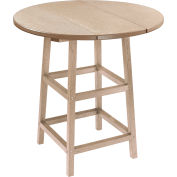 "CR Plastics 32"" Round Table Top with 40"" Pub Table Legs - Beige - Generation Series"