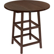 "CR Plastics 32"" Round Table Top with 40"" Pub Table Legs Chocolate Generation Series by Pub Tables"