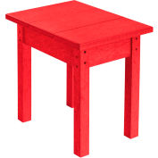 """Generations Small Side Table, Red, 17""""L x 17""""W x 17""""H"""