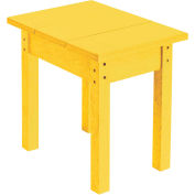 """Generations Small Side Table, Yellow, 17""""L x 17""""W x 17""""H"""