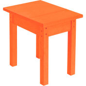 "Generations Small Side Table, Orange, 17""L x 17""W x 17""H"