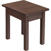 """Generations Small Side Table, Chocolate, 17""""L x 17""""W x 17""""H"""