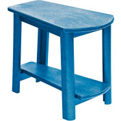 """Generations Tapered Style Accent Table, Blue, 29""""L x 18-1/2""""W x 19""""H"""
