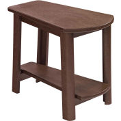 "Generations Tapered Style Accent Table, Chocolate, 29""L x 18-1/2""W x 19""H"