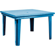 "Generations 46"" Square Dining Table, Blue, 47""L x 47""W x 31""H"
