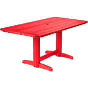 """Generations Double Pedestal Dining Table w/Base, Red, 72""""L x 36""""W x 31""""H"""