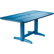 """Generations Double Pedestal Dining Table w/Base, Blue, 72""""L x 36""""W x 31""""H"""