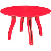 "Generations 52"" Scalloped Round Dining Table w/Base, Red, 47""L x 47""W x 31""H"