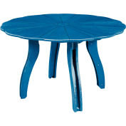 "Generations 52"" Scalloped Round Dining Table w/Base, Blue, 47""L x 47""W x 31""H"