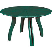 "Generations 52"" Scalloped Round Dining Table w/Base, Green, 47""L x 47""W x 31""H"