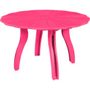 "Generations 52"" Scalloped Round Dining Table w/Base, Fuchsia, 47""L x 47""W x 31""H"