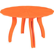 "Generations 52"" Scalloped Round Dining Table w/Base, Orange, 47""L x 47""W x 31""H"