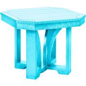 """St Tropez 25"""" Square End Table, Aqua, 24-1/2""""L x 24-1/2""""W x 20""""H"""