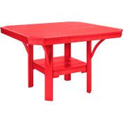 "St Tropez 45"" Square Dining Table, Red, 45""L x 45""W x 30""H"