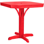 """St Tropez 35"""" Square Counter Table, Red, 35""""L x 35""""W x 36""""H"""