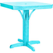 "St Tropez 35"" Square Counter Table, Aqua, 35""L x 35""W x 36""H"