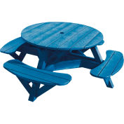 "Generations 51"" Round Picnic Table - Color Frame, Blue"