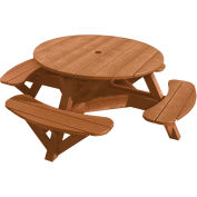 "Generations 51"" Round Picnic Table - Color Frame, Cedar"