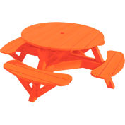 "Generations 51"" Round Picnic Table - Color Frame, Orange"