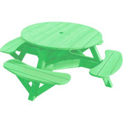 "Generations 51"" Round Picnic Table - Color Frame, Lime Green"