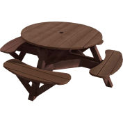 "Generations 51"" Round Picnic Table - Color Frame, Chocolate"