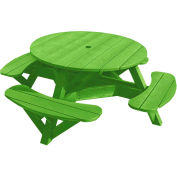 "Generations 51"" Round Picnic Table - Color Frame, Kiwi Lime"