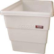 Dandux FDA Approved Plastic Bulk Container, Step Wall, 18 Bushel, Natural