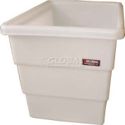 Dandux FDA Approved Plastic Bulk Container, Step Wall, 8 Bushel, Natural