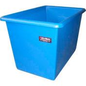 Dandux Plastic Bulk Container 51Q007006 - Smooth Wall, 6 Bushel, Gray
