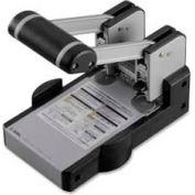 Carl® Extra Heavy-Duty Two-Hole Punch, 100 Sheet Capacity, Gray