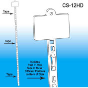 "Clip Strip®, 12 Station, W/Tape & Header, 34-1/4""L, White - Pkg Qty 500"