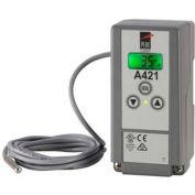 Johnson Controls Digital Temperature Controller A421ABC-04C, 120/240 VAC, SPDT, Nema 1