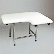 "CSI Bathware 28"" x 21"" L-Shape Folding Padded Shower/Bath Seat, Left Handed - SEA-SD2821-LH-PA"
