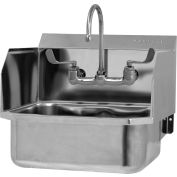SANI-LAV 507FL Wall Mount Sink With Faucet And Side Splash Guards