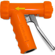 Sani-Lav® N1SS Mid-Sized Stainless Steel Spray Nozzle - Safety Orange